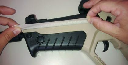 Airsoft gun spuiten - afplakken 1