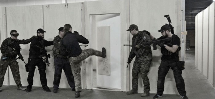 Airsoft - Running The Target - Breach door